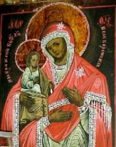 Гиф gif Белобережская Троеручица икона Божией Матери рисунок