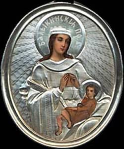 Гиф gif Балыкинская икона Божией Матери. рисунок
