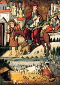 Гиф gif Бегство в Египет икона Божией Матери рисунок