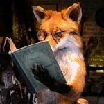 Смайлик Умная лиса с книгой аватар