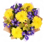 Прекрасные букеты из самых разных цветов (25)