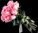 Букет розовых роз в подарок смайлики картинки
