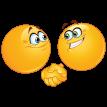 Два Смайликов Рукопожатие картинка смайлик