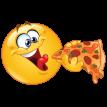 Едят Пиццу