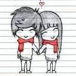 Картинка Мальчик и девочка держатся за руки анимация
