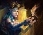 Картинка Принцесса с феей анимация