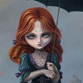 Картинка Девочка на стороне зла анимация