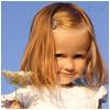 Гиф gif Милая девочка со светлыми волосами рисунок