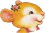 Смайлик Мышка с цветком в прическе аватар