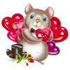Смайлик Мышка  идет на праздник аватар