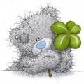 Картинка Мишка с четырехлистным клевером анимация