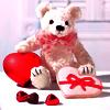 Картинка Медвежонок и сердечки анимация