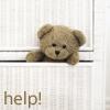 Гиф gif Плюшевый мишка застрял (help) рисунок