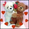 Влюблённые игрушечные медвежата