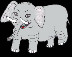 Картинка Большой слон анимация
