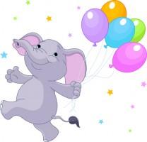 Слоник с воздушными шариками