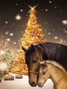 Смайлик Лошадки с елкой аватар