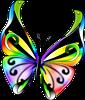 Картинка Гламурная бабочка анимация