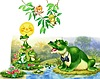 Картинка Разговорчивая лягушка анимация