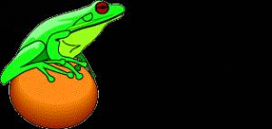 Смайлик Лягушка охотится с апельсина аватар