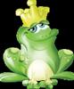 Гиф gif Лягушка с короной рисунок
