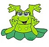 Картинка Лягушка  на листике анимация