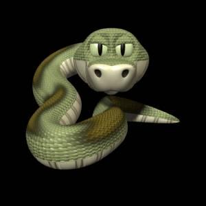 Смайлик Добродушная змейка аватар