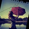 Гиф gif Под домашним дождём рисунок