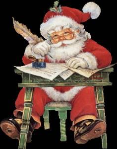Картинка Дед Мороз пишет письма ребятам анимация