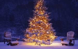 Смайлик С Новым годом! Новогодняя красавица елка приглашает гостей аватар