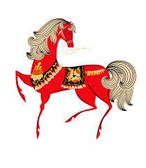 Гиф gif Сказочный конь с чудесной гривой рисунок