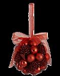 Новогодний шарик красный с <b>бусинками</b> и бантиком картинки смайлики
