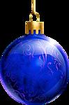 Новогодняя игрушка-шарик синий