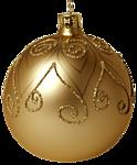 Новогодняя игрушка-шарик золотой с рисунком