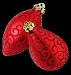 Новогодние игрушки- красные разной формы смайлики картинки