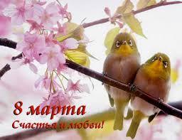 8 марта! Счастья и любви! Птицы