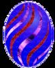 Синее полосатое яичко
