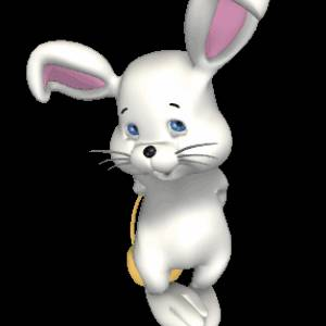 Картинка Пасхальный кролик анимация