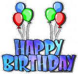 Гиф gif С Днем рождения! Воздушные шарики рисунок