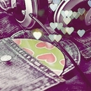 Гиф gif Музыкальный диск с сердечками рисунок