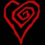 Гиф gif Сердце закрученное в спираль (тату мм) рисунок
