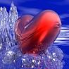 Смайлик Сердце на льду аватар