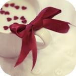 Картинка Молоко с сердечками в кружке анимация