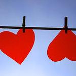 Смайлик Сердечки на веревке аватар