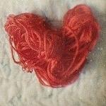 Картинка Сердце из ниток анимация