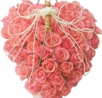 Сердце из розовых роз с <b>бусинами</b> картинки смайлики