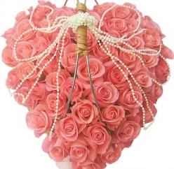 Смайлик Сердце из роз аватар
