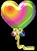 Разноцветное сердечко- шарик смайлики картинки