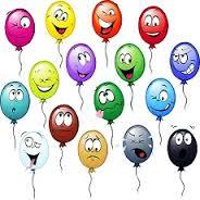 Воздушные шарики с глазками смайлики картинки