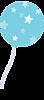 Голубой шарик с белыми звездами смайлики картинки